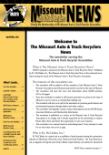 Welcome to The Missouri Auto Truck Recyclers News
