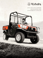 Kubota 2013-14 RTV X-Series Accessories and Attachments Catalog