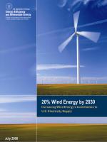 20% Wind Energy by 2030: Increasing Wind Energys - NREL