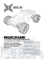 Ruckus 1/18th 4WD Monster Truck RTR Manual - English - ECX RC