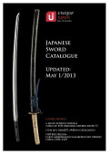 Latest Japanese Sword Catalogue (Direct PDF download)