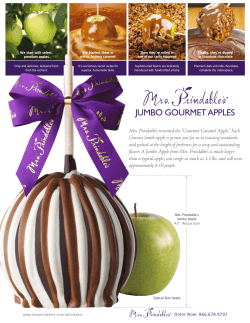 JUMBO GOURMET APPLES - Mrs. Prindables