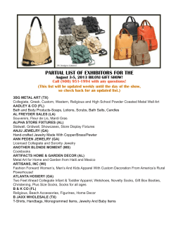 PARTIAL LIST OF EXHIBITORS FOR THE - Biloxi Gift Show