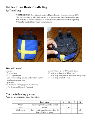 Better Than Basic Chalk Bag Pattern