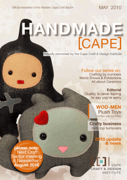 May 2010 CCDI Newsletter - Cape Craft and Design Institute