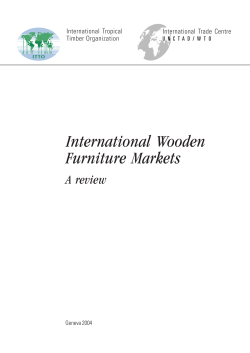 International Wooden Furniture Markets - Food and Agriculture