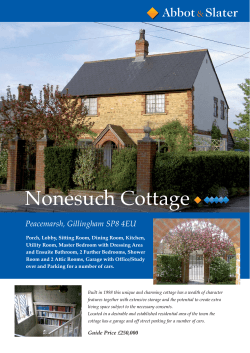 View Our Brochure for this property - Abbot and Slater