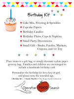 Birthday Kit - Operation Food Search