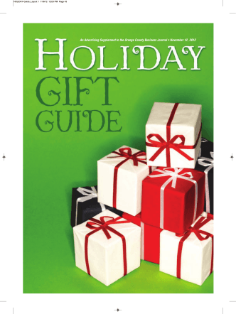 An Advertising Supplement to the Orange County Business Journal