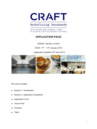 CRAFT 2015 - Application Pack Contact