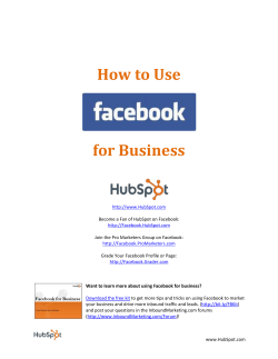 How to Use Facebook for Business - HubSpot