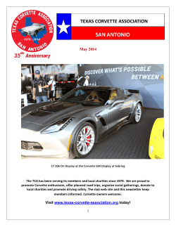 May - Texas Corvette Association, San Antonio