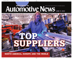Top 100 global OEM parts suppliers - Automotive News