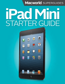 iPad Mini Starter Guide - St. Francis Episcopal Day School