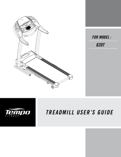 TREADMILL USERS GUIDE - Tempo Fitness