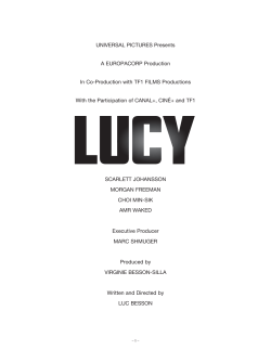 production notes - Lucy