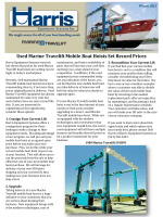 Used Marine Travelift Mobile Boat Hoists Set Record Prices - Harris