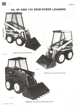 60, 90 AND 125 SKID-STEER LOADERS - John Deere