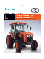 L3560/L4060/L4760 L5060/L5460/L6060 - Kubota Tractor Corporation