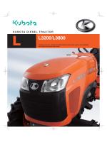 kubota diesel tractor l3200 - Kubota Canada