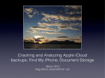 Cracking and Analyzing Apple iCloud backups, Find My - Elcomsoft