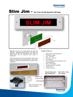 Slim Jim thin profile LED sign - Lasermet, Ltd