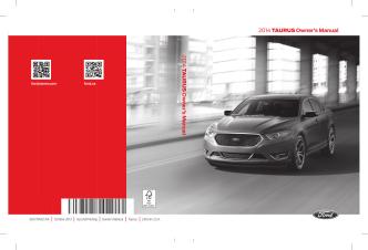 2014 TAURUS Owners Manual 2014 T A U RUS Owners Manual