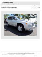 2010 Jeep Compass Sport SUV - Car Factory Outlet