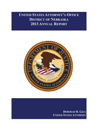 2013 ANNUAL REPORT - Department of Justice