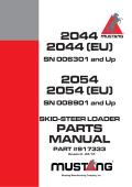 2044 2044 (EU) 2054 2054 (EU) PARTS MANUAL - Mustang