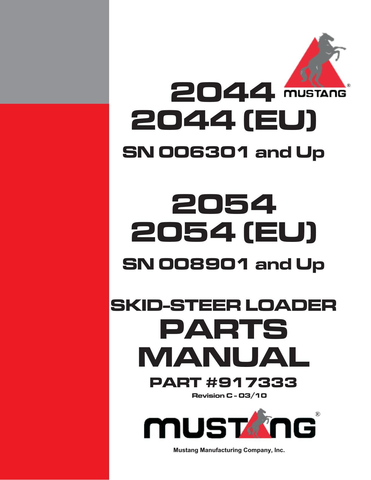 2044 2044  Eu  2054 2054  Eu  Parts Manual