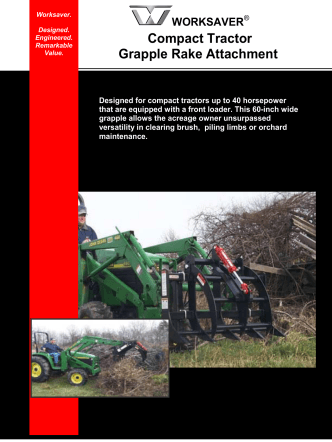 Compact Tractor Grapple Rake Attachment - Edney Distributing Co