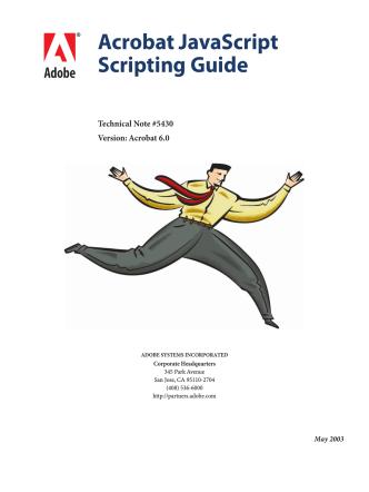 Acrobat JavaScript Scripting Guide - PDFill