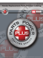 Honda Replacement Parts Product Catalog - MMD Equipment