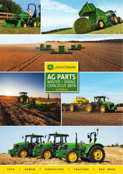 JD751 - Ag Parts Winter/Spring Catalogue AUS.indd - Vanderfield