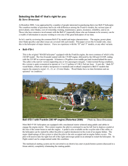 Selecting the Bell 47 thats right for you By Steve Brousseau • Bell