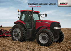 GENUINE PARTS, ACCESSORIES SERVICE - Case IH