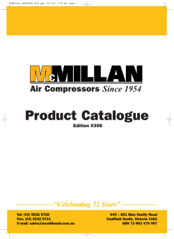 McMillan CATALOGUE 2006.qxd - McMillan Air Compressors
