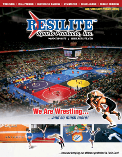 View the RESILITE wrestling mat catalog - TW Promotions, Inc.