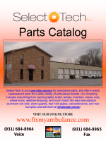 Parts Catalog - Select-Tech Inc.