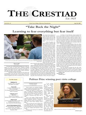 April 28.qxp - Cedar Crest College
