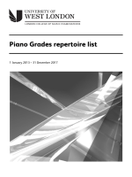 LCM Exams - piano grades repertoire list - University of West London