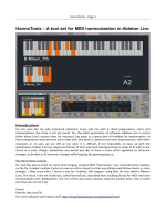 HarmoTools – A tool set for MIDI harmonization in - Fabrizio Poce