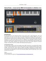 HarmoTools – A tool set for MIDI harmonization in - Fabrizio Poce