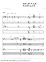 "Complete Transcription To ""Back In Black"" - Guitar Alliance"