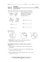 Chords and Arcs - BakerMath.org