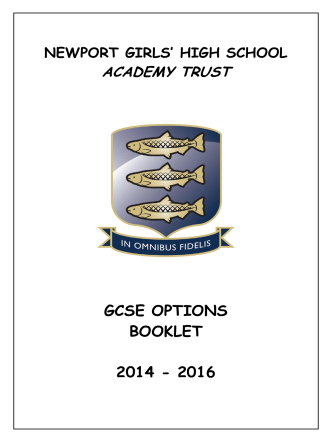 ACADEMY TRUST GCSE OPTIONS BOOKLET 2014 - 2016