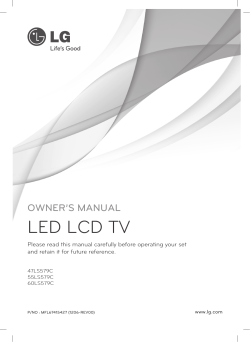 Owners Manual - LG Electronics
