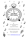 """N"" Time Music 2003 Catalog www.ntimemusic.com"