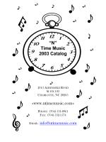 """""""N"""" Time Music 2003 Catalog www.ntimemusic.com"""